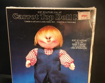 Vintage YKI Carrot Top doll kit, doll making kit, crafts by valiant # 872