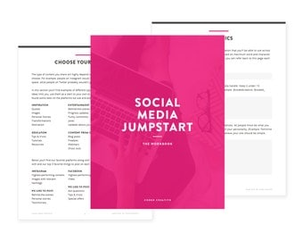 Social Media Jumpstart - A fillable workbook