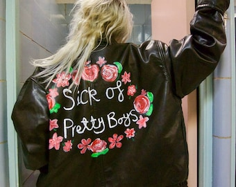 Sick of Pretty Boys up-cycled jacket