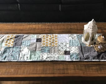 "Hand Pieced Table Runner - 12"" x 40"""