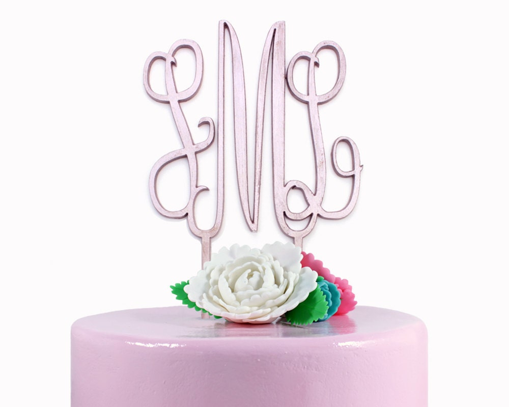 Design Your Own Monogram Cake Topper : Monogram Cake Topper Wedding Cake Topper Custom Cake