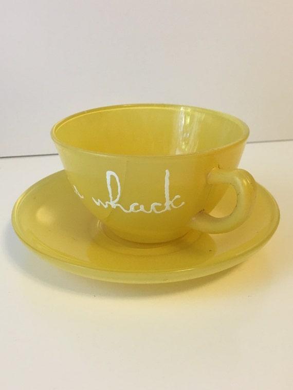 vintage tea cup cracked