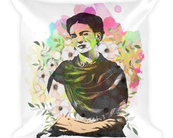 Frida Artsy Square Pillow, Decorative Pillow
