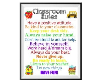 how to teach classroom rules to students