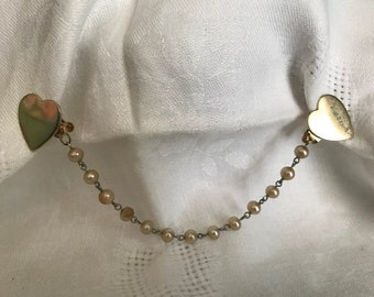 Sweater Guard, Hearts and Pearls, 7""