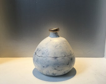 Modern large vase with a textured organic base
