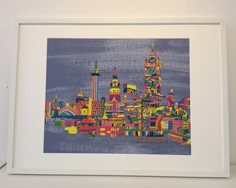 Glasgow Abstract Print