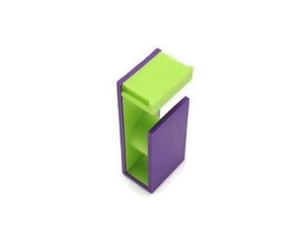 MT 15mm Washi Tape Cutter And Dispenser, Purple And Lime Green, Magnetic, Craft Room Supplies, Office Accessories, Decoration