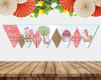 Printable Farmyard Bunting
