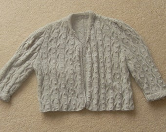Dainty Handknitted Pure Cashmere Bolero From Original 1940's Pattern