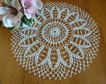 Crochet doily,lace table cloth,crochet napkin,large doily,lace doily,white centerpiece,crochet doilies,floral doily,crochet lace,white doily