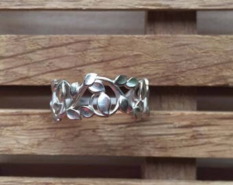 Flower sterling silver ring, coustom ring