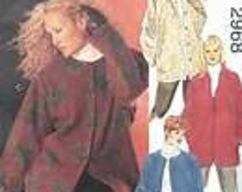McCall's 2968  Sewing Pattern Woman Style UNLINED Jacket 4 VARIATIONS Size KK 26W - 50
