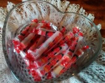 Glass Heart Candy Dish
