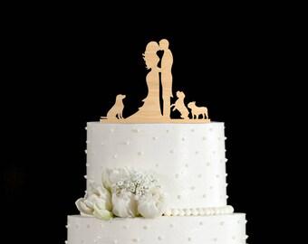 Couple silhouette pug wedding topper,Couple Kissing topper  retriever,Wedding topper pug, retriever cake topper,pug art,topper dogs,5942017