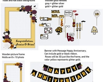 Custom Anniversary set for Anaise,  installment 2, 50% deposit