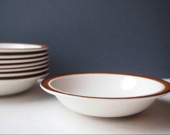 Vintage Poole Pottery Bowls, Vintage Crockery, Brown Glazed Bowls, Soup Bowls, Cereal Bowls, Side Dishes, Dinnerware, Side Bowls