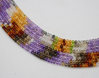 """Assorted Semi Precious 16"""" Bead Strand Faceted Roundel (Multiple Sizes)"""