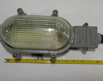 Vintage USSR  industrial lamp - Factory wall lamp - Bunker wall lamp