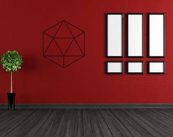 "Icosahedron vinyl crystal grid around 11"""
