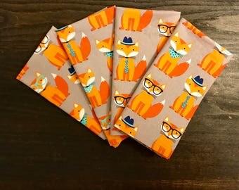 Cloth Napkins - DESCRIPTION - Set of 4 - Handmade Cloth Dinner Napkins