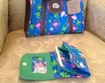 Handmade wallet, hand crafted, tri-fold wallet, vintage,camping