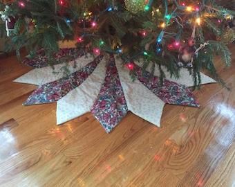 christmas tree skirt large christmas tree skirt quilted tree skirt victorian tree skirt - Large Christmas Tree Skirts