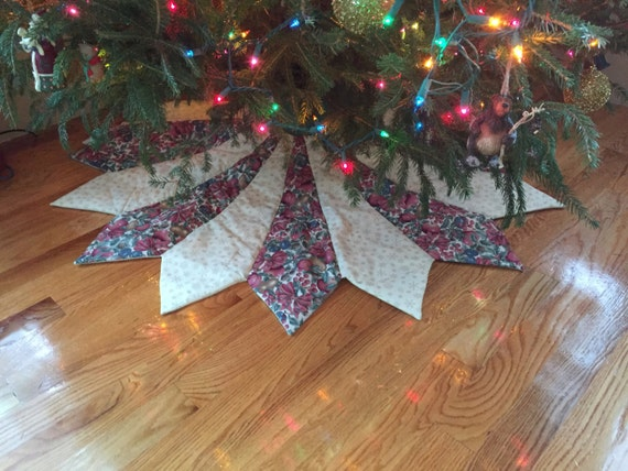 Christmas tree skirt large quilted