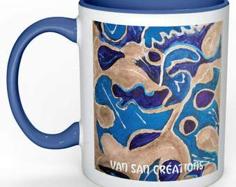 "Love mugs Collection Art - painting ""Path"""