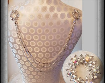 Diamante back drape / back chain / bridal back piece/ dress jewellery / backdrop necklace / statement jewellery / back jewellery