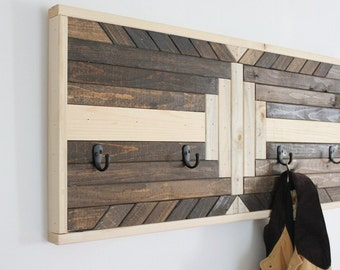 Wood Wall Hanging Coat/Hat Rack