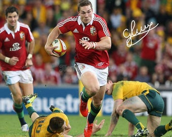 George North pre signed photo print poster - 12x8 inches (30cm x 20cm) - Superb quality