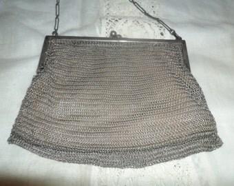 Antique German Chainmail Evening Purse~Chainmail Clutch~Mesh Purse~Antique Fashion Statement~German Antique Fashion~Gift~Collectors~