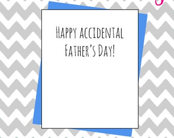 Hilarious Fathers day card accident accidental mistake joke banter funny father's dad humour