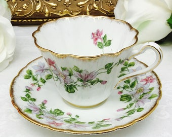 Royal Stafford Columbine Teacup & Saucer