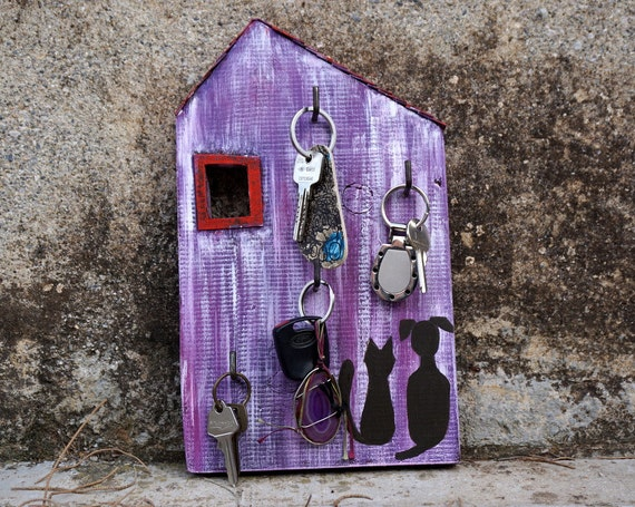 Key Holder Wall Key Holder Key Rack Purple House Key
