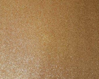 A4 sheet of champagne fine glitter
