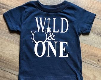 Wild & One Birthday Shirt   Hunting Theme Shirt  Arrow Shirt   Antlers Shirt   Woodland Theme