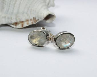 Earrings, earrings, Stud Earrings, silver plug, hand made, Moon stone, Moonstone, gift, 925 Siber