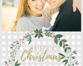 MERRIEST Postcard | Custom Christmas Postcard
