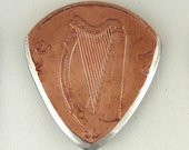 Coin Guitar Pick - Irish 2 Pence