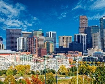 Denver Colorado, Denver Canvas, Denver skyline, Denver wall canvas, 3 panel or single panel Denver art, Denver photo, Denver wall art