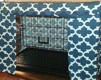 "Custom ""Cute Zees"" Crate Cover/Pet Crate Cover//Dog Crate Cover"