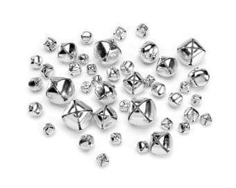 Darcie Assorted Silver Jingle Bells - 43 pieces