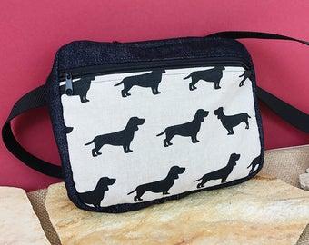 Waist bag belt bag Fanny Pack (dog motif), HipBag