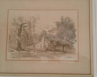 John Dodd sketch of country house