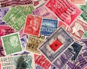 40 Assorted Vintage Postage Stamps