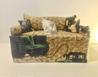 John Deere Tractors Tissue Box Cover