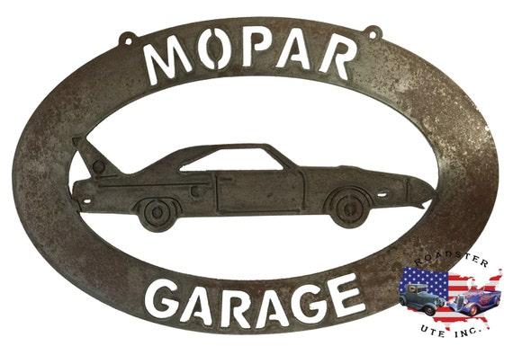 Mopar Garage - Plasma Cut Metal Shop Sign