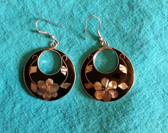 Sterling and Abalone Earrings